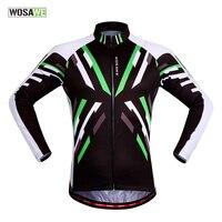 WOSAWE Quick Dry Bike Jacket Men Women Windproof Sport Clothing High Quality Long Sleeve Cycling Jerseys