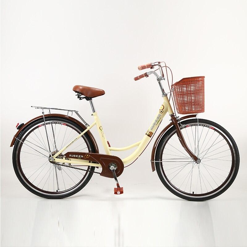 KUBEEN Mulheres Bicicleta Adulto Retro City bisiklet bicicleta bicicletas Bicicleta Estudante Tambor De Freio Da Bicicleta Para A Mulher
