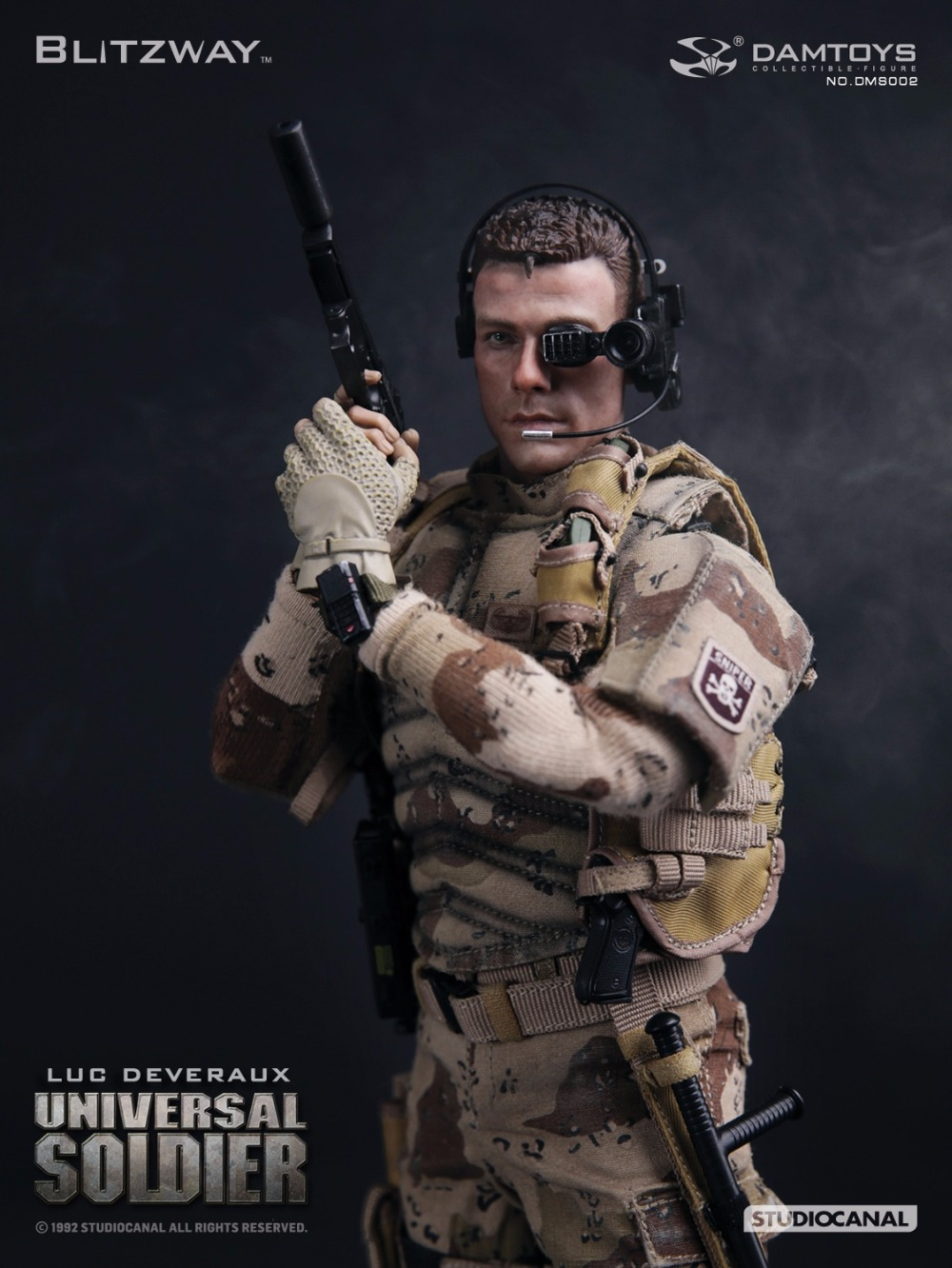 1/6 Super flexible military figure 12 action figure doll Collectible model Universal Soldier Luc Deveraux jean-claude van damme фигурка planet of the apes action figure classic gorilla soldier 2 pack 18 см
