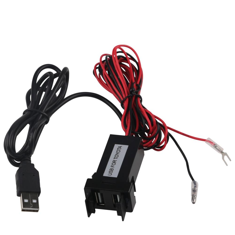 Toyota USB Adapter Adapter Port Kabel İnterfeysi Səs Sistemi 2.1A - Cib telefonu aksesuarları və hissələri - Fotoqrafiya 4