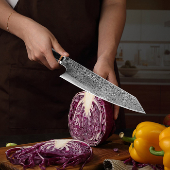Japanese Steel Knives   XITUO Handmade Knife 67-layers Japanese Damascus Stainless Steel Chef Knife Kiritsuke T Head Kitchen Utility Knives Wood Handle