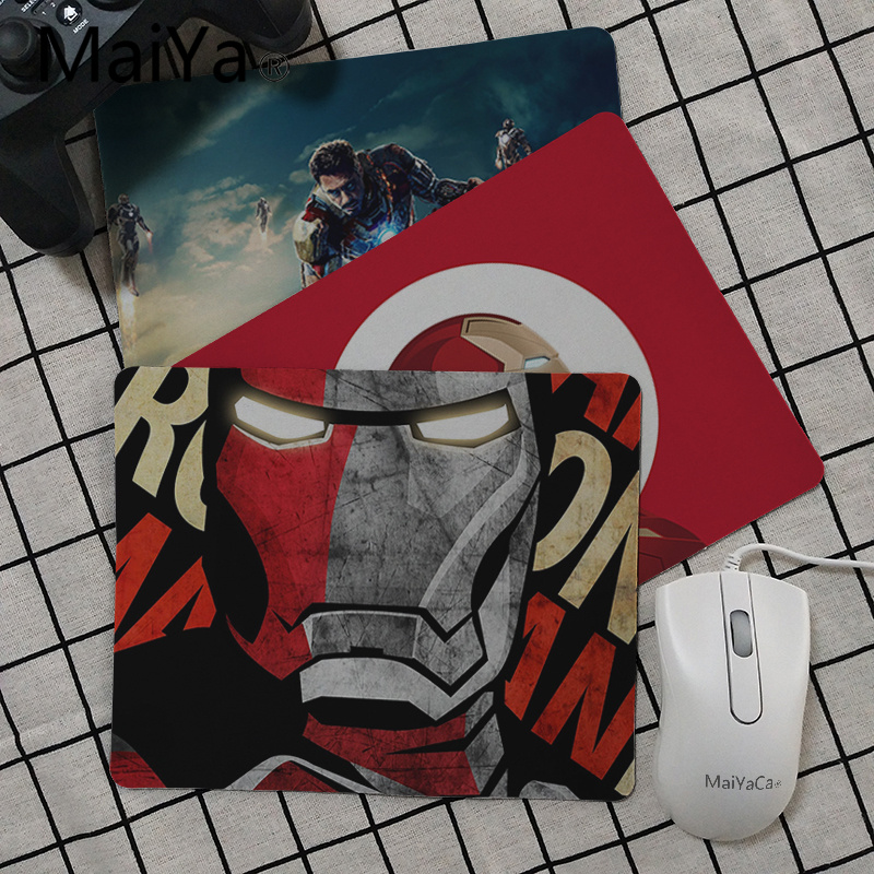 Maiya High Quality Marvel Iron Man Anti-Slip Durable Silicone Computermats Top Selling Wholesale Gaming Pad Mouse