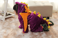 2016 Hot Children Unisex Anime Cute Animal Cosplay Costume Pajamas Sleepsuit Halloween Kids Onesie Spyro Dragon