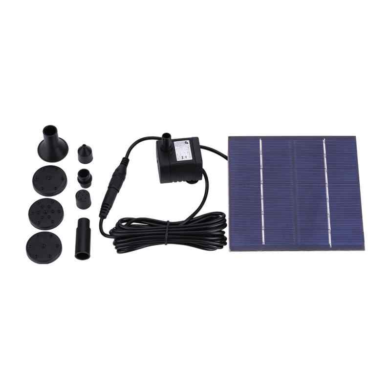 Solar Power Drijvende Fontein Waterpomp Voor Vijver Pool Aquarium Pomp Landschap Pool Tuin Decoratieve Fontein Panel Pomp