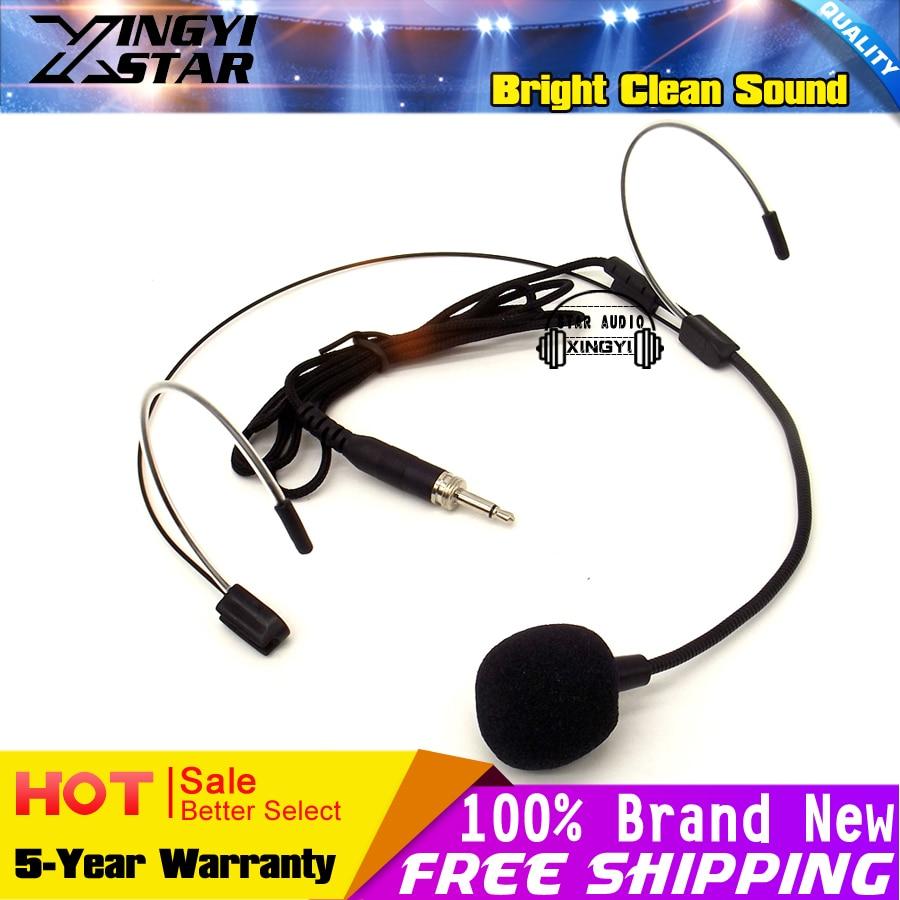 Live-geräte Unterhaltungselektronik Ehrlich Kostenloser Versand Gewinde 3,5mm Stecker Headset Mikrofon Dual Ohrbügel Headworn Stirnband Mic Für Drahtlose Taschensender QualitäT Zuerst