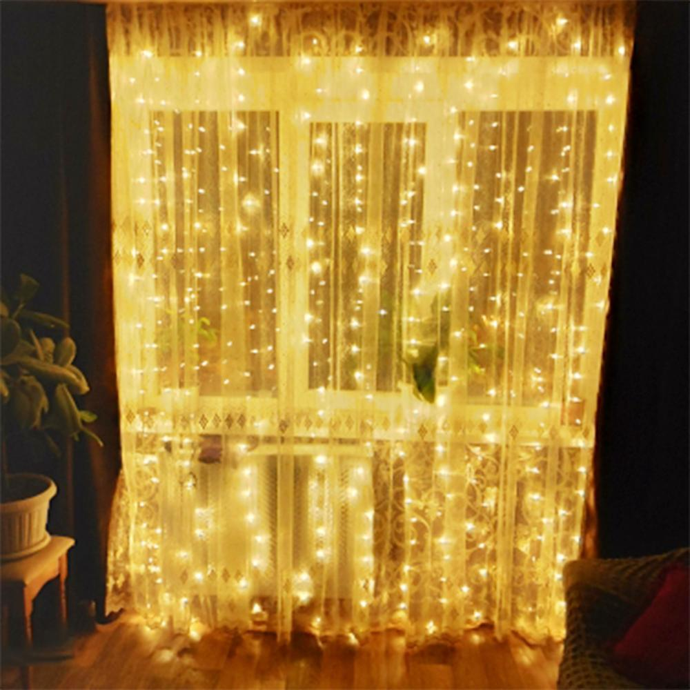 Holiday Fairy Lights Garland Curtain LED String Light Decoration Christmas Wedding Party Garden Outdoor Luz Maison Et Jardin