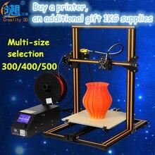 2017 большой размер 300 мм/400 мм/500 мм creality CR-10 3D принтер с подогревом кровать 0.1 мм high precisio pla | ABS нити Бесплатная доставка
