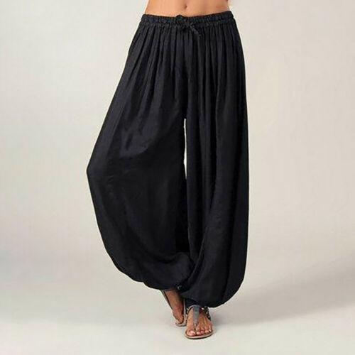 Men And Women Dance Pants Cotton  Casual  Dance Pants Loose Solid