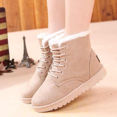 SZSGCN428 femmes bottes hiver bottes de neige chaudes femmes Faux daim bottines pour femmes chaussures d'hiver Botas Mujer chaussures en peluche femme
