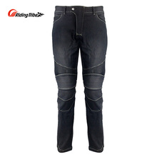 Riding Tribe Motorcycle Men's Biker Jeans Protective Gear Motocross Motorbike Racing Breathable Pants Straight Trousers HP-11