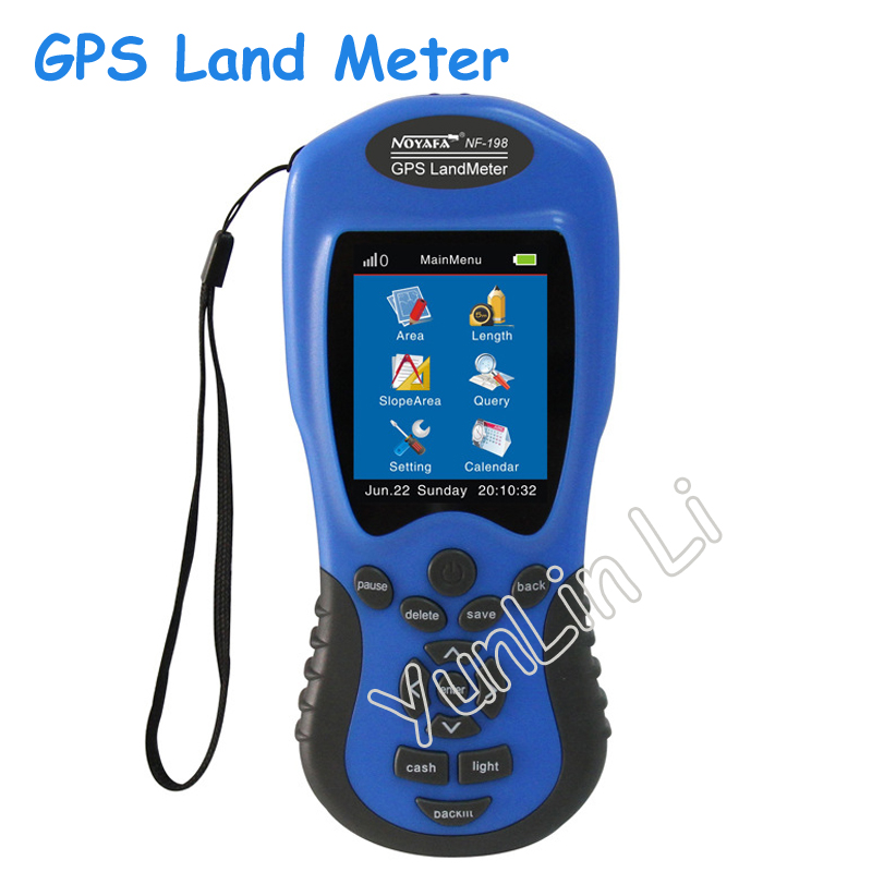 GPS Land Meter GPS Land Measuring Instrument for Farm Land Surveying and Mapping Area Measurement Display Measuring Value free shipping noyafa nf 198 gps survey equipment land meter device use for farm land surveying and mapping area measurement