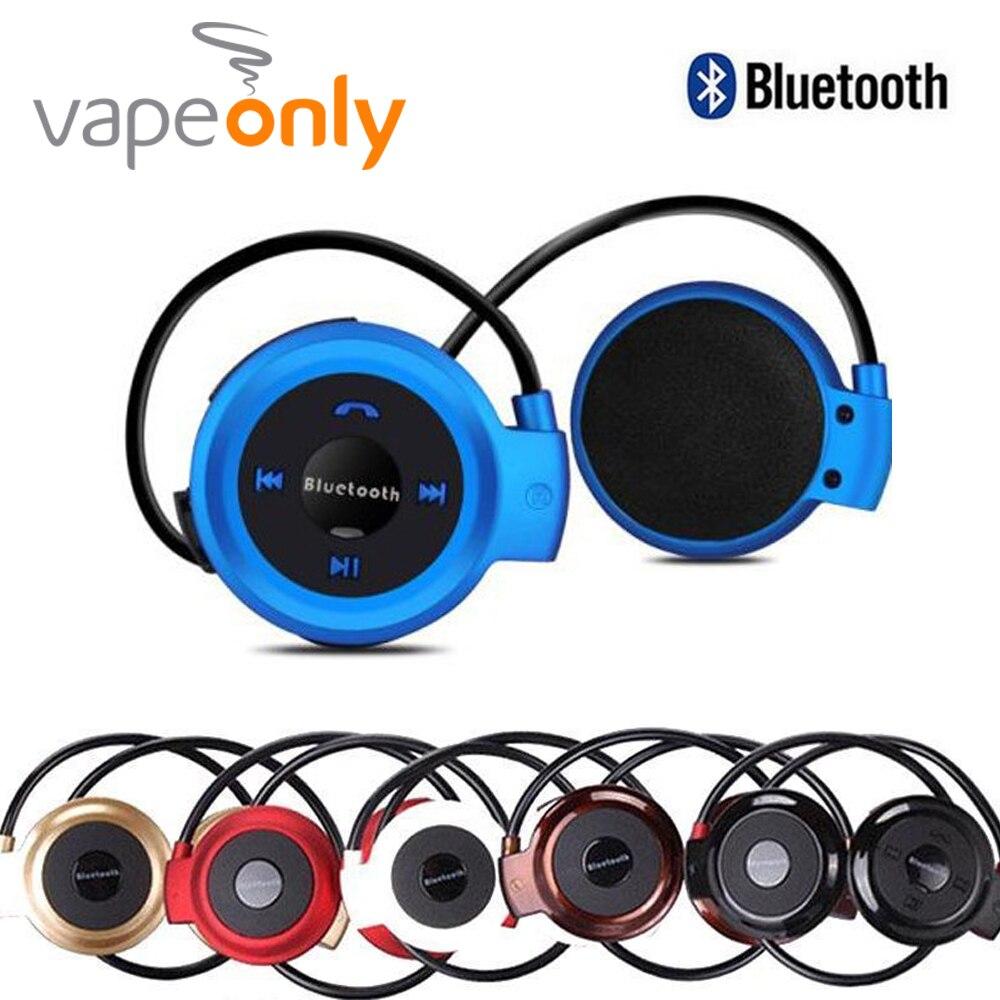 Vapeonly Mini Bluetooth para auriculares w/manos libres MP3 reproductor estéreo inalámbrico deportes auriculares soporte TFCard FM auriculares