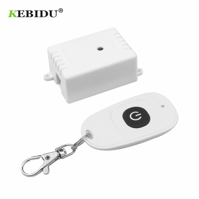 KEBIDU 433 MHz Universal Wireless Fernbedienung Schalter AC 110V 220V 1CH Relais Empfänger Modul und RF Remote steuert Universal