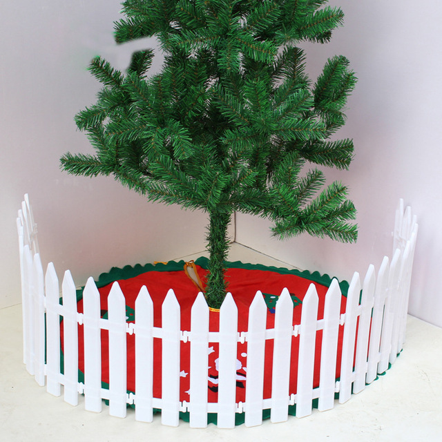 1pcs christmas tree fence 30cm12cm christmas decorations halloween birthday party decoration white picket fence - Christmas Fence Decorations