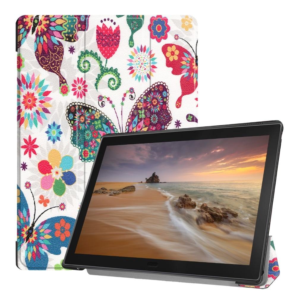 Folding Case For Lenovo Tab E10 10.1 Tablet 2019 TB-X104F TB X104F Slim Protective PU Funda Stand Cover For Lenovo Tab E10+gift