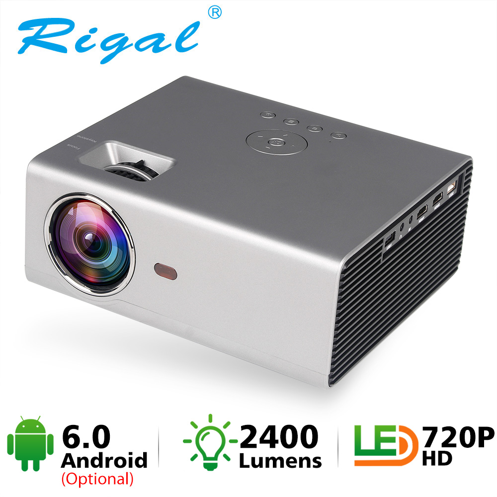 Rigal Mini LED Projector RD825 Native1280 x 720P Android 6 Support HD1080P Portable 3D TV Home