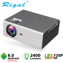 Rigal Mini proyector LED RD825 Native1280 x 720P Android 6 apoyo HD1080P portátil 3D TV casa teatro WIFI Bluetooth projetor(China)