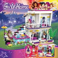 760pcs Minecrafted Plastic Block Building Blocks Compatible The Girl Singer Livi's Pink WarmHome Toys For Children