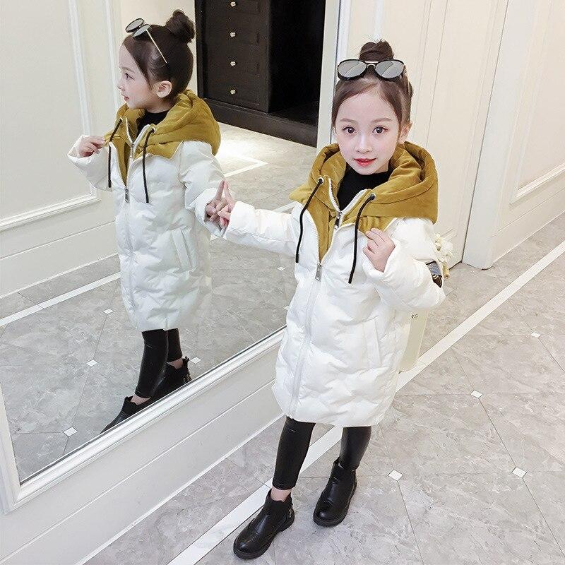 Girls Parkas Winter Coat 2019 New Fashion Children Printed Cotton padded Jacket Hooded Warm Wadded Jacket