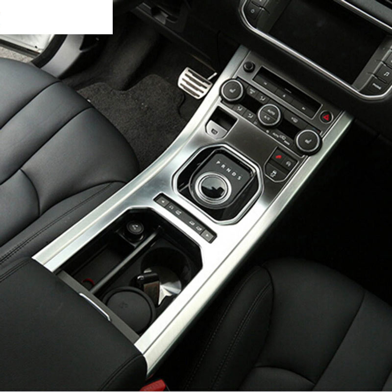 For Land Rover Range Rover Evoque 2013 2016 Accessories Center Console Gear Panel ABS Chrome Decorative Cover Trim Car Styling