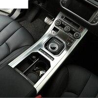 Para Land Rover Range Rover Evoque 2012-2018 Acessórios Center Console Painel Engrenagem ABS Chrome Tampa Guarnição Decorativa Do Carro styling