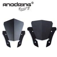 Black For Yamaha MT 07 FZ 07 MT 07 2013 2017 Motorcycle Motorbike Windshield Windscreen Aluminum