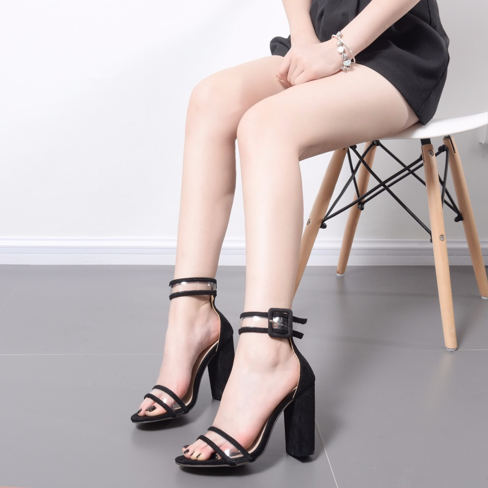 Summer Women High Heels Shoes Open Toe Sexy Casual Women Sandals Party Shoes Fashion Female Wedding Shoes Buckle Footwear ABT709 women s shoes 2017 summer new fashion footwear women s air network flat shoes breathable comfortable casual shoes jdt103