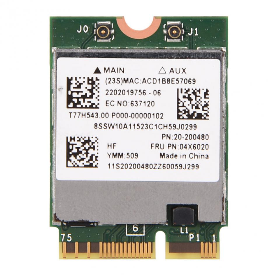 US $29 41  BCM94352Z NGFF 802 11ac Dual Band Wireless WIFI Card Module for  Lenovo Y50 70 Touch 04X6020 Free Shipping-in Network Cards from Computer &