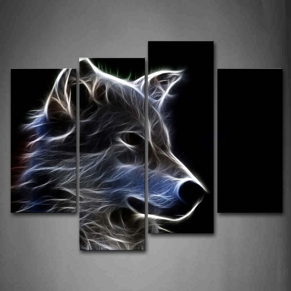 Buy Grey Wolf Wall Art Painting Pictures Print On Canvas Animal The Picture For Home Modern Decoration Unframed canvas art cheap for $7.64 in AliExpress store