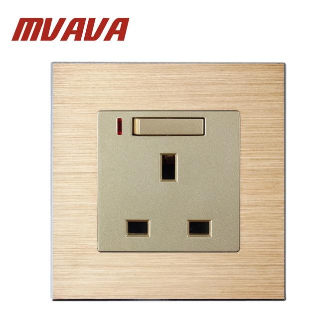 Mvava 86 90mm Satin Aluminium Series Uk Style Standard Wall Switched