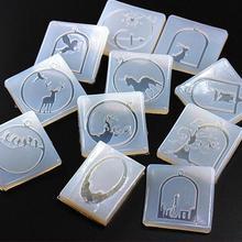 14 стилей на выбор, Прозрачная силиконовая форма для ювелирной рамки, подвеска в виде животных, силиконовая форма ручной работы, формы для эпоксидной смолы