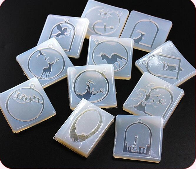14 Style For Choose Transparent Silicone Mold For Jewelry Frame Animals Pendant Resin Silicone Mould Handmade Epoxy Resin Molds
