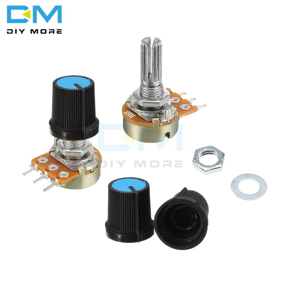 5PCS WH148 Resistor Linear Taper Rotary Potentiometer Cap Knob 1K 2K 5K 10K 20K 50K 100K 250K 500K 1M Ohm For Arduino Electronic(China)
