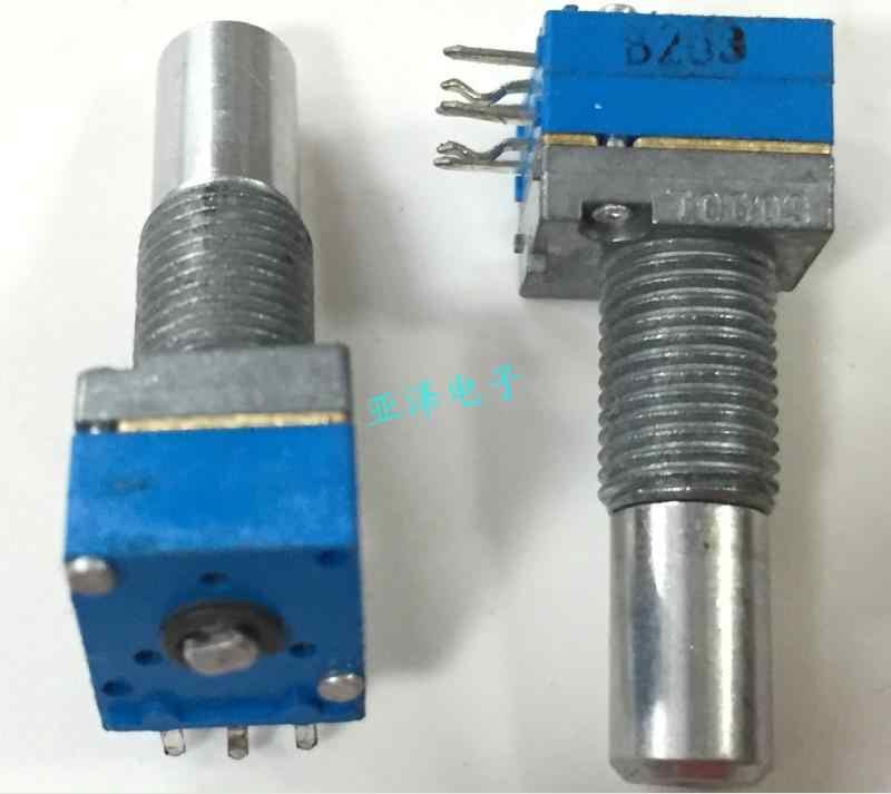 1 шт./лот японский тип производства RK09 прецизионный потенциометр, двойной пояс B20K, средняя точка длина вала, 20 мм длинная резьба