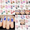 1 Sheet 2016 Top Sell Flower Bows Etc Water Transfer Watermark Nail Stickers Decal Patch DIY Nail Art Decorations Tools BXFLLL2