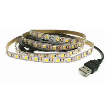 LED Strip lamp USB DC5V Flexible LED strip light Tape Ribbon 1M 2M 3M 4M 5M HDTV TV Desktop Screen Backlight Bias lighting