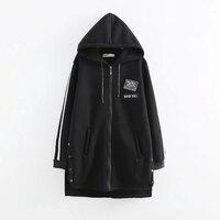 plus size hoodies high quality long women Zip up sweatshirts solid pink black army green 5XL 6XL winter jacket female coat