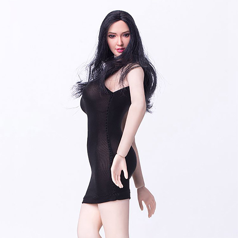 a9e4180df92 ... e4d5eb57bff62d4cefbf6cc58659130f 1-6-Scale-Female-Sexy-Black-Transparent -Dress- ...