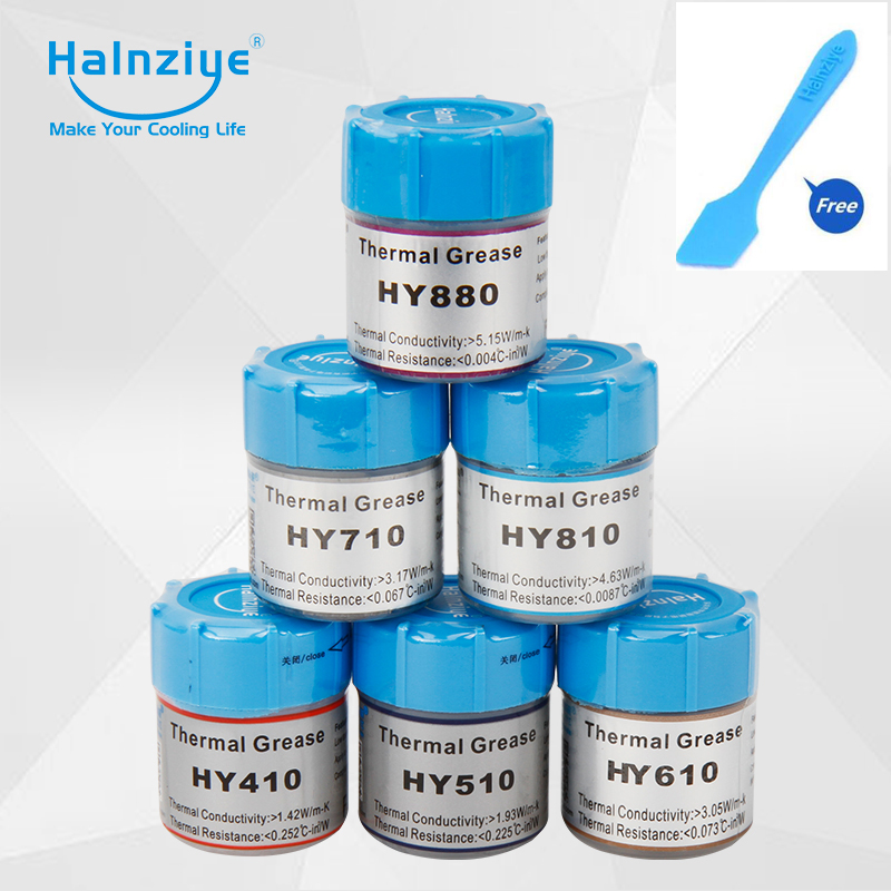 HALNZIYE HY410 HY510 HY610 HY710 HY810 HY880 CPU GPU processor Cooling Cooler Radiator Thermal Grease composite grease silica цена