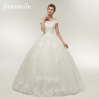 Fansmile Korean Lace Applique Ball Gowns Wedding Dresses 2018 Plus ...