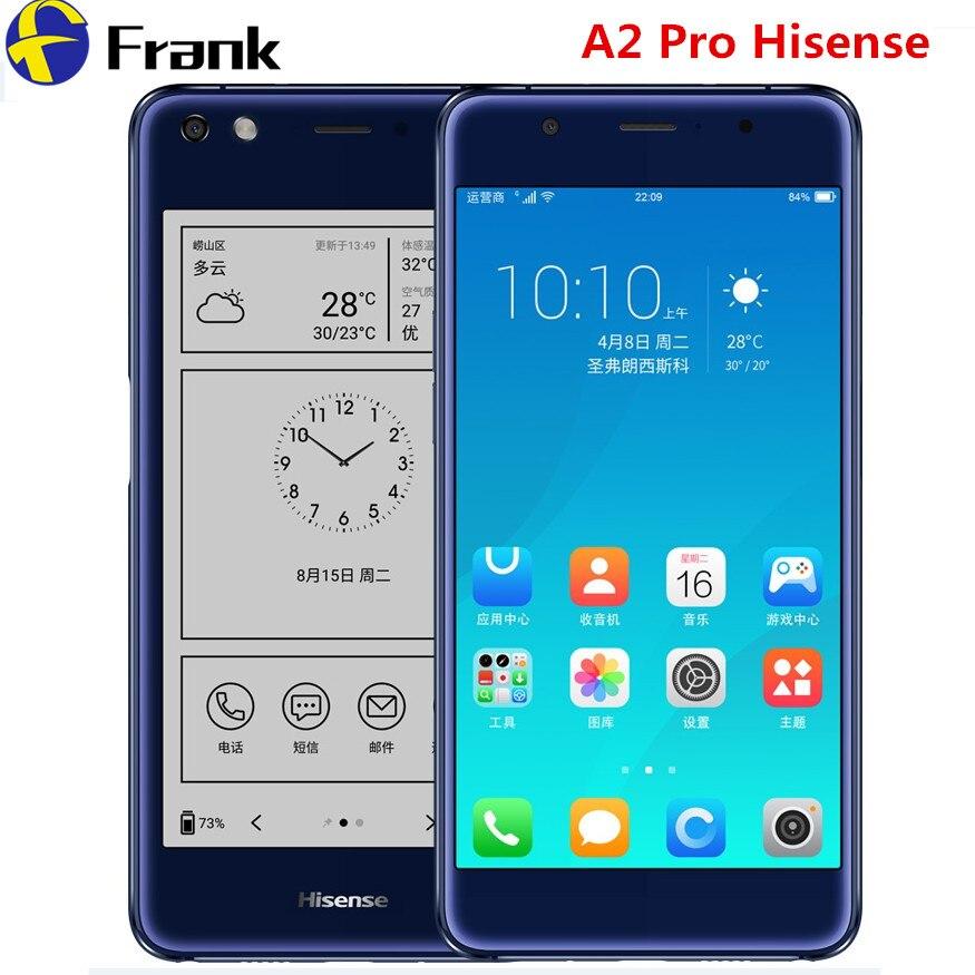 Hisense Original A2 Pro Tela do Smartphone NFC Telefone 4G 64G Dupla 4G LTE Dual Screen Moblie Telefone Com Duas Telas de 5.5 polegada