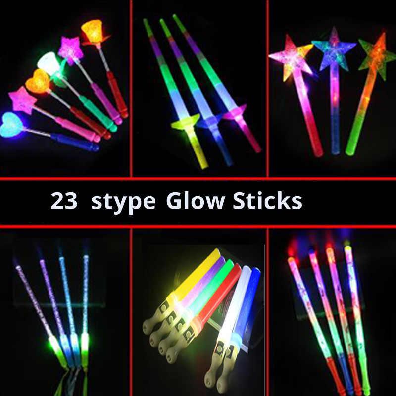 ปาร์ตี้ LED GLOW Stick กระต่ายยิ้มโฟม LED Stick Light-Up Stick เทศกาลงานแต่งงานตกแต่งคอนเสิร์ตบาร์ PROP LED ของเล่น