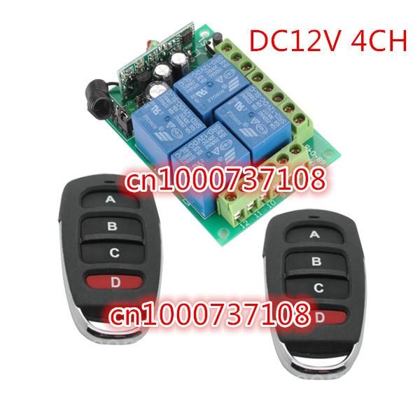 Φ_ΦAK компании DC12V 4CH обучающий код 4 канала ...