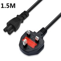 UK Plug 1 5M 5FT 3 Prong Cord Power Cable Lead For Laptop PC Adapter Computer