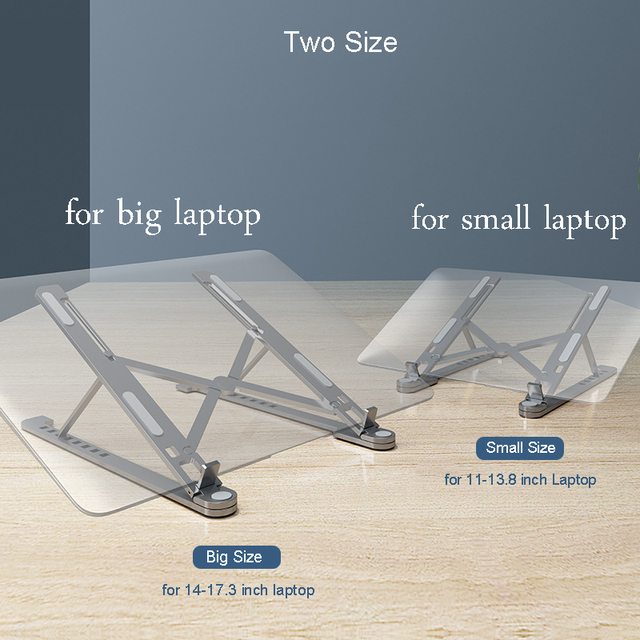 Laptop Stand Portable 8 Adjustable Desktop Cooling notebook Holder Folding Ultra for MacBook air 11 pro 13 14 15.6 17.3 inch