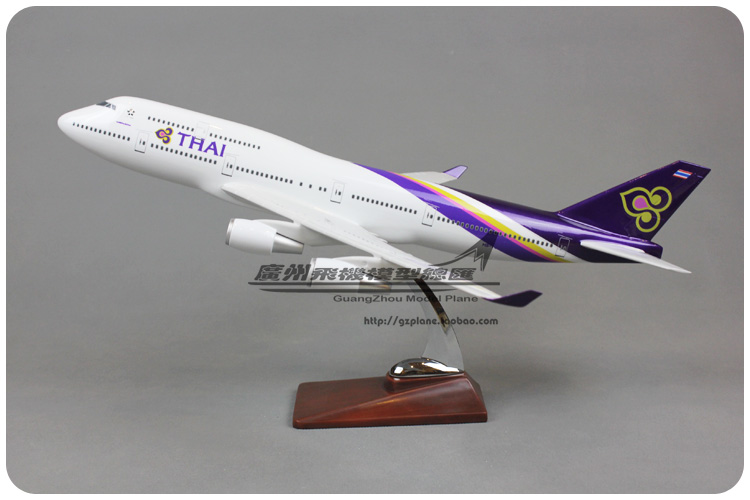 47cm Resin Thailand Airplane Model Boeing 747-400 THAI Airlines Airbus Airways Model B747 DIY Aviation Aircraft Adults Toy Gift 1 400 jinair 777 200er hogan korea kim aircraft model