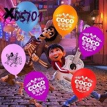 10 pçs novo dos desenhos animados 12 polegada coco tema látex balão folha balões brinquedo bola mostrar festa de aniversário decoração suprimentos favor presentes do miúdo