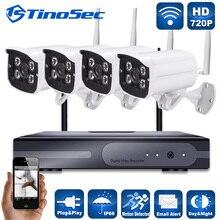 4CH Беспроводной 1.0MP Камера Массив Комплект 720 P P2P ONVIF NVR WI-FI Ip-камера Открытый Водонепроницаемый Сеть NVR P2P Eseenet CCTV система