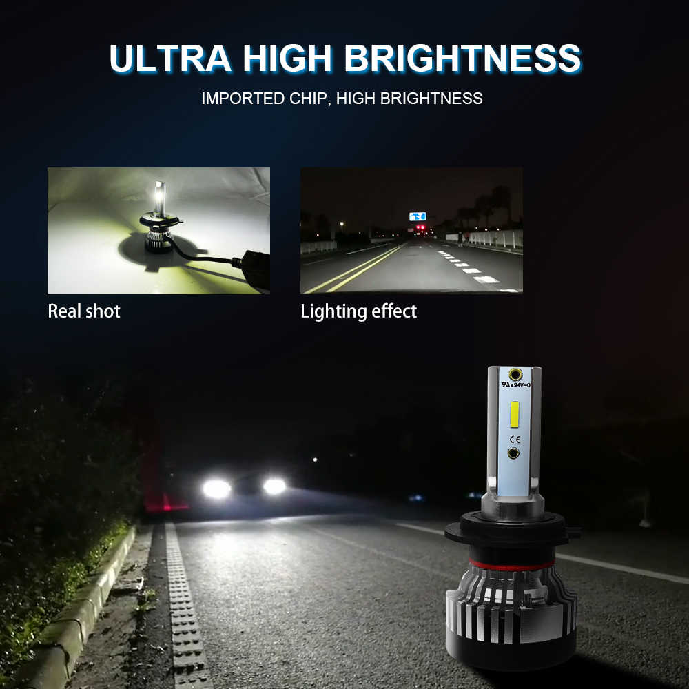 Roadsun Headlight LED Bulb H4 Led H7 Headlight Light CSP Chip H11 Automotive 9005 9006 HB4 10000LM 12V 24V Car Auto Lamps