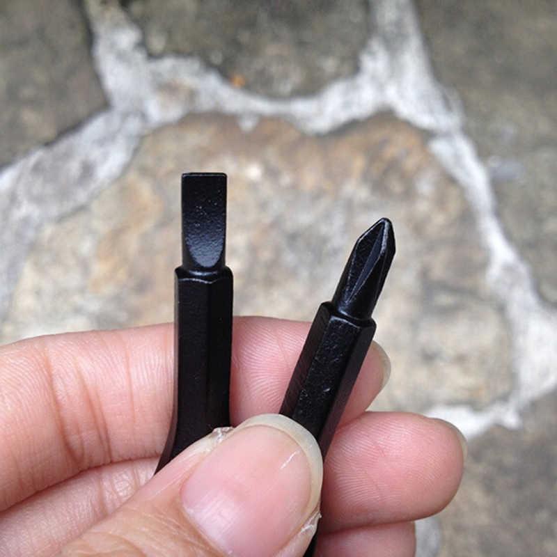 2 יחידות נירוסטה רב כלי מפתח טבעת EDC מברג סט כיס חיצוני כלי סט Multitool Keychain רסיס שחור